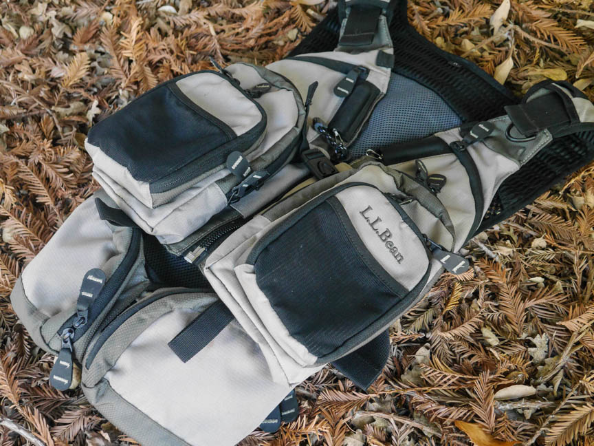 Gearguide l l bean rapid river vest pack review for Ll bean fishing